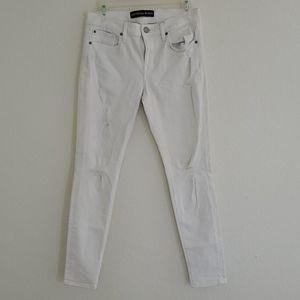 Express jeans Midrise white women leggings size 6